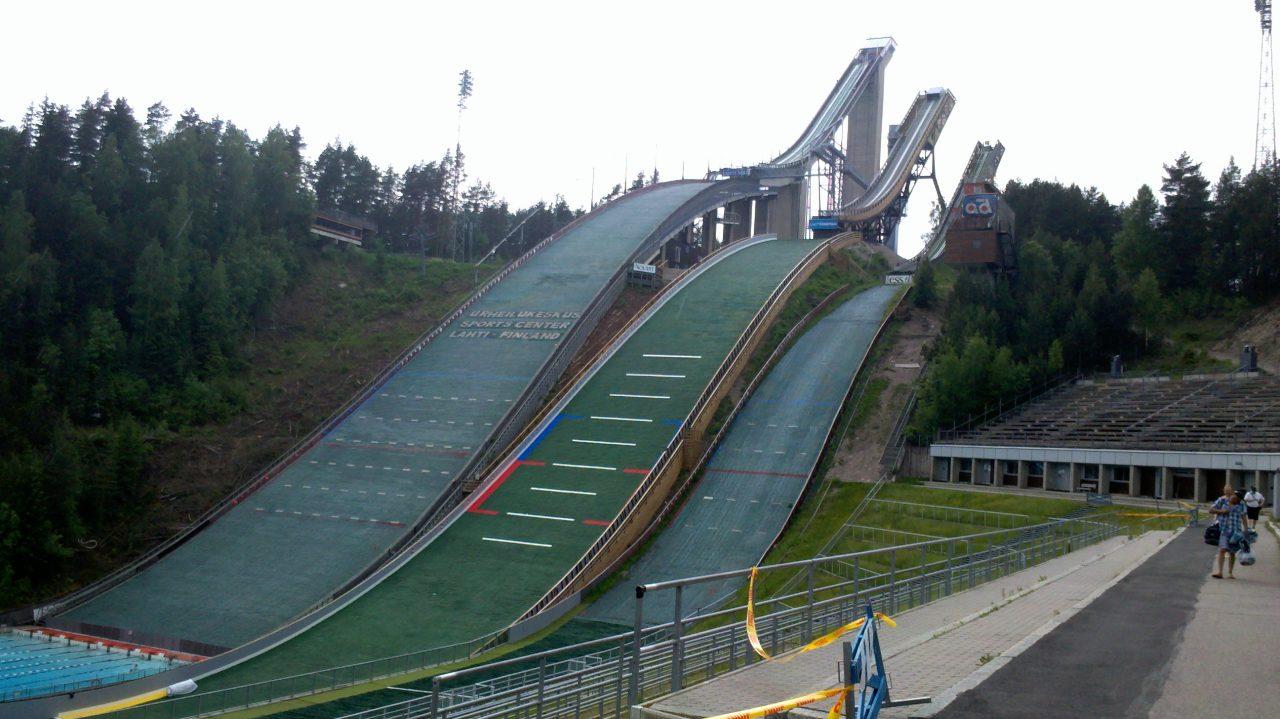 Lathi skistadion! Legenden Janne Ahonens hjemmebane!
