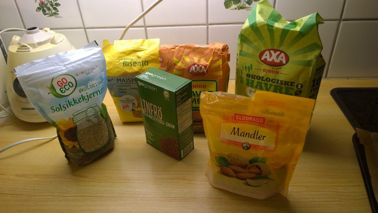 Ingredienser - glutenfrie rundstykker